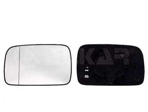 6426107 Стекло зеркала правое, сферическое с подогревом / VW Polo 95~00