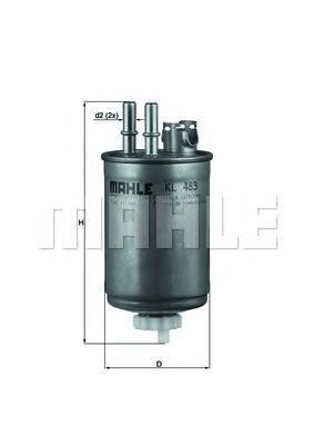 KL483 Фильтр топливный FORD FOCUS/TRANSIT 1.8 TD