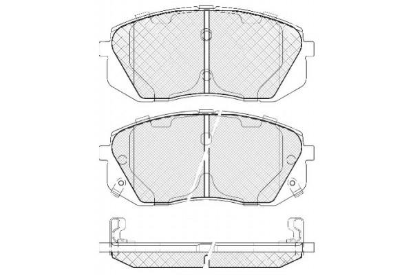 581012YA00 Колодки тормозные передние IX35 (с 05/09/2011)