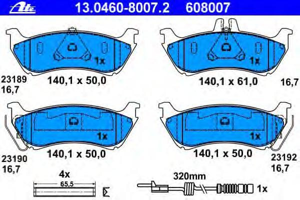 13046080072 Колодки тормозные дисковые задн, MERCEDES-BENZ: M-CLASS ML 230/ML 270 CDI/ML 320/ML 430 98-05