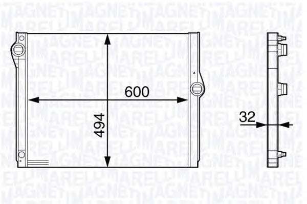350213140400 Радиатор BMW 7(F01,F02) 750i-750il 08-