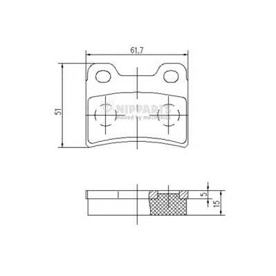 J3610303 Колодки тормозные FORD ESCORT/ORION 90-00/KIA SEPHIA 93-/SHUMA 96-01 задние