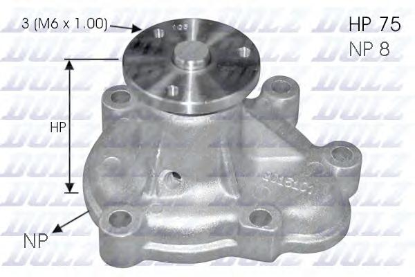 O144 Насос водяной Opel Astra/Combo/Corsa/Meriva 1.7CDTI 03