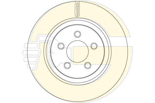 6062631 Диск тормозной JEEP CHEROKEE 10- передний вент.D=332мм.