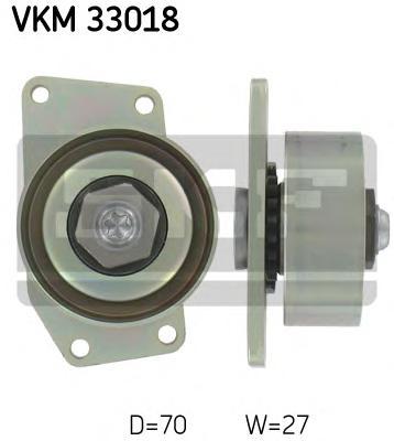vkm33018 Ролик поликлинового ремня Peugeot 206 1.1,1.4,1.6 98-