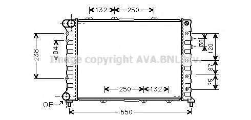 ALA2038 Радиатор ALFA ROMEO 156 1.8-2.5 00-07