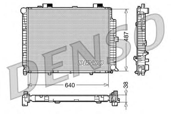 DRM17087 Радиатор системы охлаждения MERCEDES-BENZ: E-CLASS (W210) E 300 Turbo-D (210.025) 95 - 02 , E-CLASS универсал (S210) E