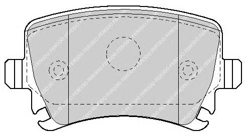 FDB1636 Колодки тормозные VOLKSWAGEN TOURAN 03/CADDY/G5/G6 задние