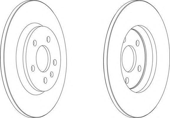 DDF1666 Диск тормозной AUDI A4/A5/A6/A7/Q5 задний вент.D=300мм.