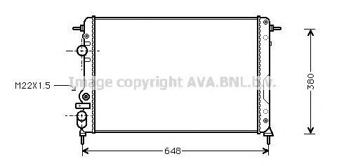 RTA2241 Радиатор RENAULT MEGANE 1.4-2.0/1.9D 97-05