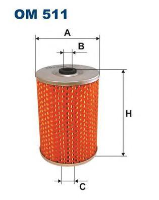 OM511 Фильтр масляный MB W123/W126 M103/M116/M117