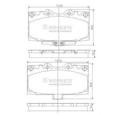 N3607022 Колодки тормозные SUBARU FORESTER 2.0 98-02/IMPREZA 2.0 94- передние