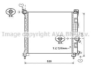 OL2562 Радиатор системы охлаждения OPEL: MERIVA 1.4/1.4 ECOFLEX 10- VAUXHALL: MERIVA MK II 1.4 16V TURBO 10-