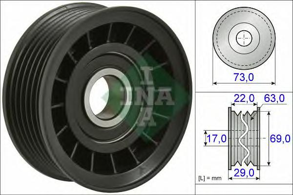 532064910 Ролик приводного ремня FORD FOCUS 1.8-2.0 06