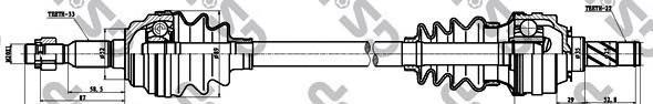 244033 Привод в сборе OPEL ASTRA G/H/ZAFIRA A 1.4-1.7D 98-09 прав.