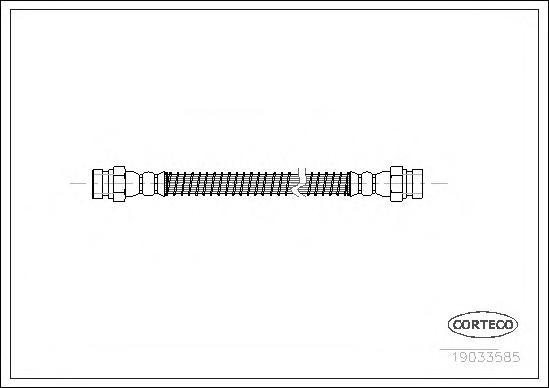 19033585 Шланг тормозной HYUNDAI: GETZ 1.1/1.3/1.3 i/1.4 i/1.5 CRDi/1.5 CRDi GLS/1.6 02-09