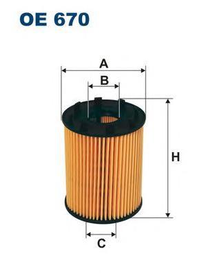OE670 Фильтр масляный OPEL ASTRA H/CORSA D 1.3 CDTI/SUZUKI SWIFT