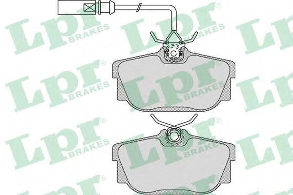 05P974 Колодки тормозные VOLKSWAGEN T4 96/SHARAN 00/GALAXY R16 0006 (1 датчик) зад.