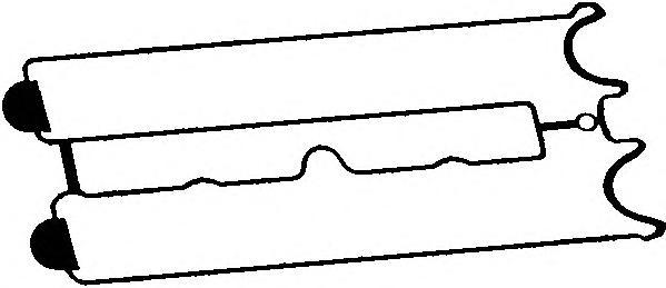 11063400 Прокладка клапанной крышки OPEL/CHEVROLET/DAEWOO 1.8/2.0/2.4 16V
