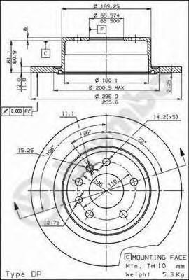 08589110 Тормозной диск