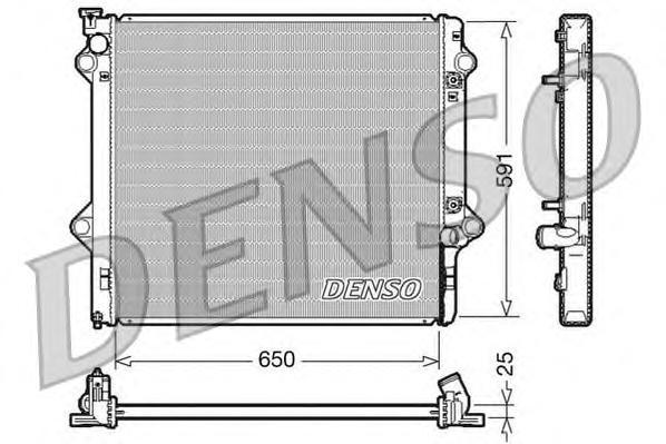 DRM50046 Радиатор системы охлаждения TOYOTA: LAND CRUISER 3.0