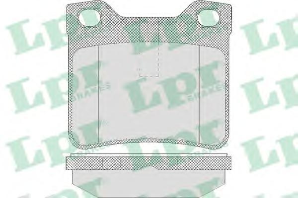 05P622 Колодки тормозные PEUGEOT 406 1.6-3.0 95-04/607 2.0-3.0 00- задние