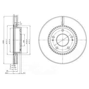 BG3861 Диск тормозной HYUNDAI TUCSON 06-/i30 09-/KIA CEED 06-/SPORTAGE 04- передний