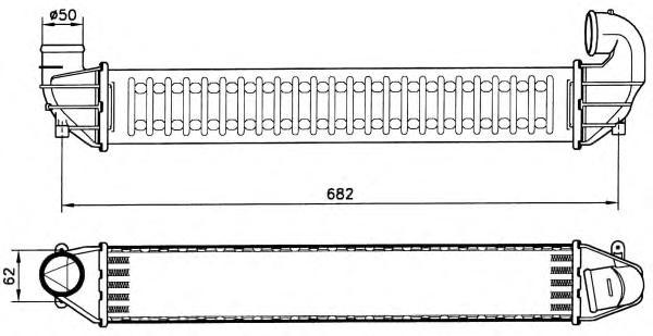 30139 Интеркулер VAG Sharan 1.9D 97-10