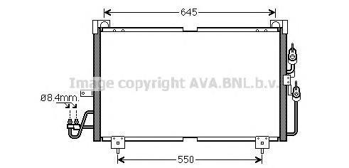 MT5213 Радиатор кондиционера MITSUBISHI: OUTLANDER 2.0/2.0 4WD/2.4 4WD/2.4 HDD Mivec 03 -
