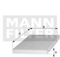 CU3569 Фильтр салона MB SPRINTER/VW CRAFTER 06-