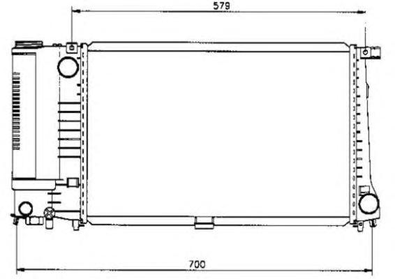 50568 Радиатор BMW 5 (E34) 520i 24v