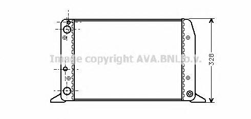 AIA2028 Радиатор VAG A80 1.4-1.8 87-92