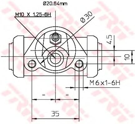 BWF144 Цилиндр торм.раб.LADA 2101-07/NIVA 73-