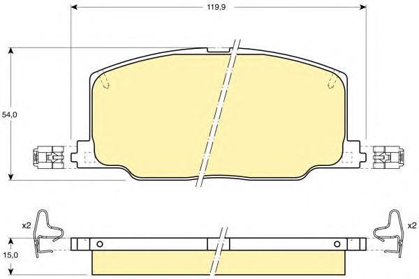 6107989 Колодки тормозные TOYOTA CAMRY/CARINA/CELICA 86-94 передние