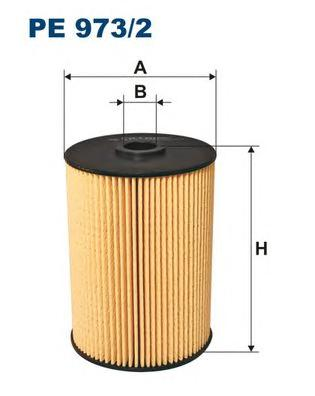 PE9732 Фильтр топливный VAG A3/GOLF V 2.0 TDI 04-