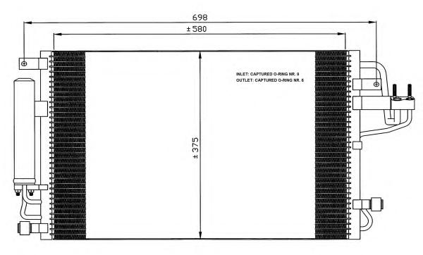35600 Конденсер HY Tucson 04-