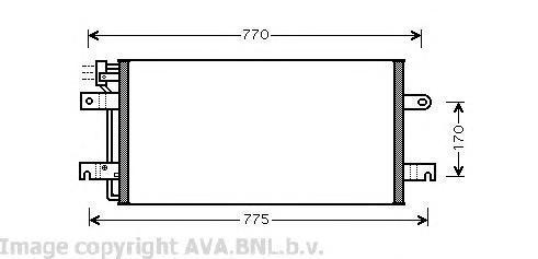 VW5197 Конденсер VAG TRANSPORTER IV 2.0-2.8/1.9-2.5 D/TDi 90-04