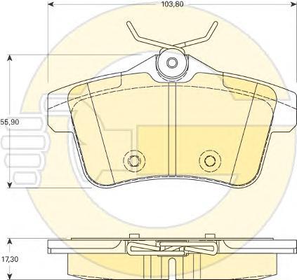 6118281 Колодки тормозные CITROEN C4 09-/PEUGEOT 3008/5008 09- задние