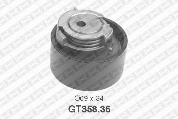 GT35836 Натяжитель ремня ГРМ FIAT DUCATO 2.3D 02-
