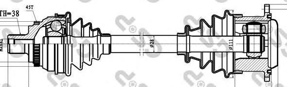 203060 Привод в сборе AUDI 100/A6 I 2.5TD-4.2 90-97 лев. АКПП +ABS