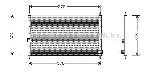 HD5062 Радиатор кондиционера HONDA: CR-V I (RD) 2.0 16V (RD1, RD3) 95 - 02 , INTEGRA (DC2) 1.8 Type-R 97 - 01
