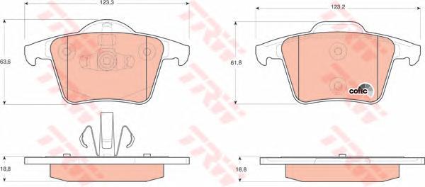 GDB1566 Колодки тормозные VOLVO XC90 2.4-4.4 02- задние