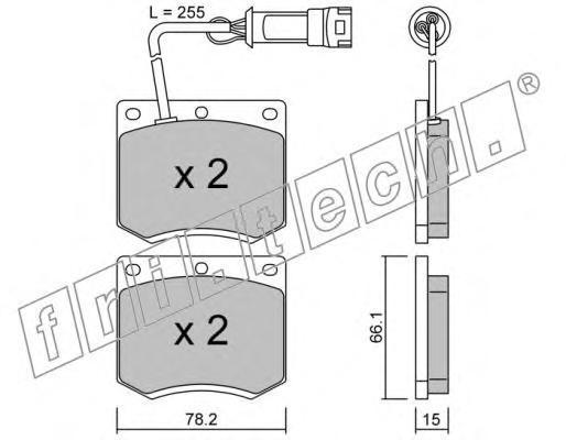 0251 Комплект тормозных колодок, дисковый тормоз