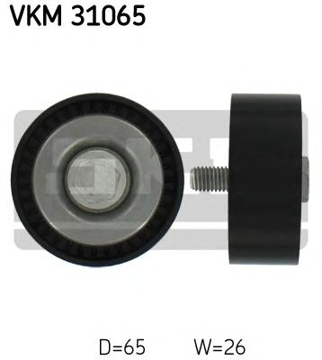 VKM31065 Ролик промежуточный поликлинового ремня AUDI: A3 3.2 V6 quattro 03-, A3 Sportback 3.2 V6 quattro 04-, TT 3.2 V6 quattro