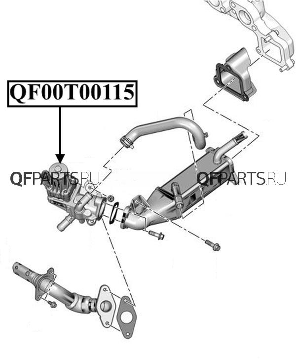 qf00t00115 Клапан EGR BOXER III  EURO 5