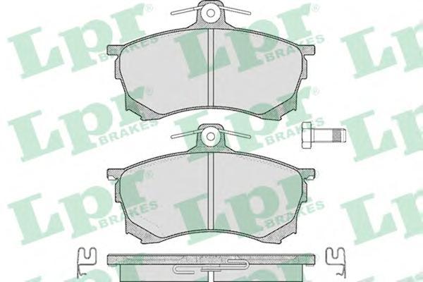 05P420 Колодки тормозные MITSUBISHI CARISMA 1.6-1.9D 95-06 передние