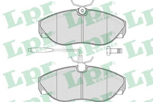 05P493 Колодки тормозные CITROEN JUMPER/FIAT DUCATO/PEUGEOT BOXER 94-99 передние