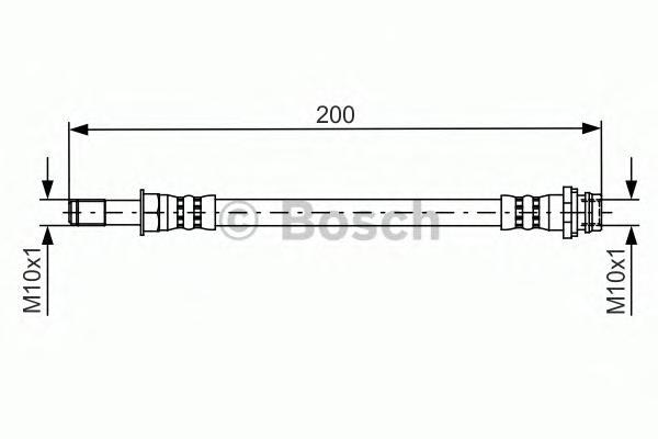 1987481443 Шланг тормозной FORD GALAXY/MONDEO/S-MAX 06- 200мм. задний лев./прав.