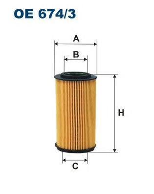 OE6743 Фильтр масляный HYUNDAI SONATA NF/GRANDEUR 04-/KIA SORENTO 06- 3.3 04-