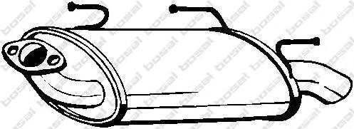 145503 Глушитель NISSAN ALMERA 1.5/1.8 00-06 (HATCH)
